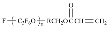 Perfluoropolyether Acrylate Chemical Structure